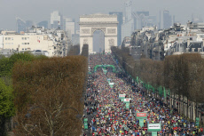 APTOPIX France Paris Marathon