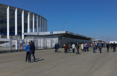 Open stadium for FIFA World Cup Russia 2018 in Nizhny Novgorod, Russia - 15 Apr 2018