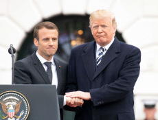 French President Emmanuel Macron visit to USA - 24 Apr 2018
