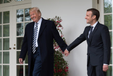 Washington: Us President Trump welcomes French President Macron at the White House