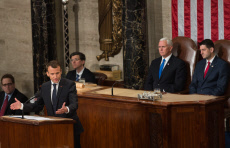 Washington: Macron delivering an address to a joint meeting of U.S. Congress