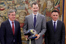 Audience with King Felipe VI, Royal Palace, Madrid, Spain - 26 Apr 2018