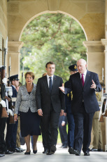 Emmanuel Macron at the Admiralty House - Sydney