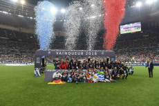 Football: French Cup soccer final - Celebration