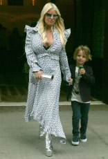 Jessica Simpson and son and about in New York City