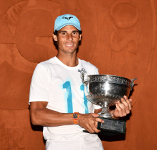Paris: Rafael Nadal with his 11th French Open title Trophy