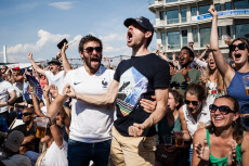 World Cup 2018 Fan Zone Supporters France Uruguay