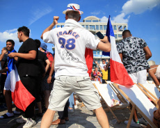 Pantin: France's Fans Celabrate Qualification for 1/2 Final