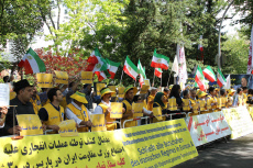 Berlin, Germany, Demonstration in front of the Iranian Embassy to support the anti-regime protest in Iran