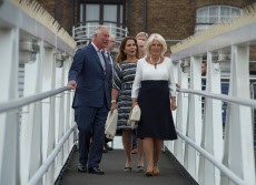 The Prince of Wales and The Duchess of Cornwall visit the newly refurbished 'Maiden' Yacht', London, UK - 05 Sep 2018
