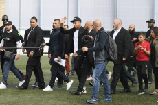 France Kylian Mbappe back in his hometown of Bondy