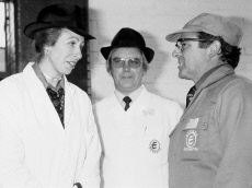 Princess Anne visiting Express Dairies