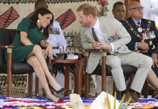 Duke & Duchess Of Sussex At Nadi Welcome Ceremony