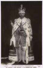 King George V in coronation robes