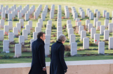 Thiepval: Macron and Theresa May attend a wreath-laying ceremony