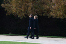 Compiegne: Macron and Merkel attend a ceremony in the clearing of Rethondes