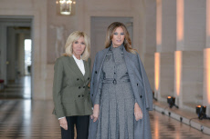 Versailles: Brigitte Macron and spouses Heads of State lunch
