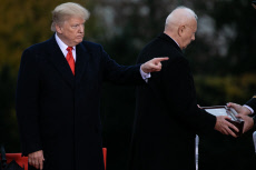 PARIS: US President Donald Trump at the American Cemetery in Suresnes to pay tribute to US soldiers who died in the First World War