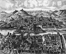 Isle de la Cite and the River Seine, Paris in 1600