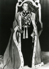 Lord Louis Mountbatten in his robes as Viceroy of India