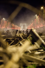 Aftermath of Gilets Jaunes riots on  Champs-Elysees