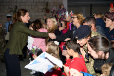 The Duke and Duchess of Cambridge visit service personnel
