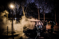 FRA : Paris : Gilets Jaunes acte IV : Night Clashes