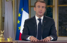 Paris: French President Emmanuel Macron delivers a speech on TV