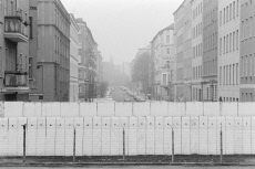 View of the border strip from west, Berlin, Germany