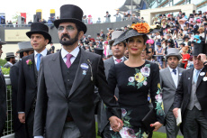 Ascot , United Kingdom, Sheikh Mohammed bin Rashid al Maktoum, head of Dubai and Princess Haya Bint Al Hussein