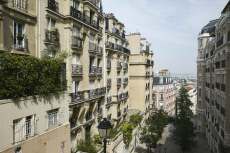 Paris, France - Houses from the early 20th century at Montmartre