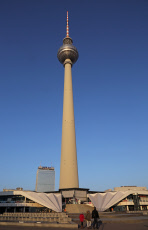Berlin, Germany, the Berlin TV Tower and the Hotel Park Inn