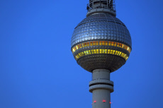 Berlin, Germany, the Berlin TV tower in the morning