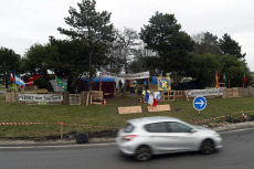 APTOPIX France Protests Life on a Roundabout