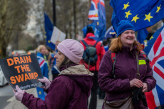 Pro and Anti-Brexit protests, London, UK - 14 Jan 2019