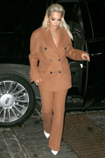 Rita Ora arrives at her place in New York