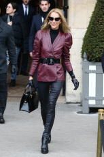 Paris Celine Dion and Pepe Munoz out and about