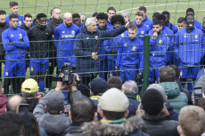 LA CHAPELLE SUR ERDRE : FC Nantes traning session in homage to Emiliano Sala.