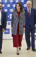 Madrid: Queen Letizia Of Spain Arrives At 'Fundeu BBVA'.