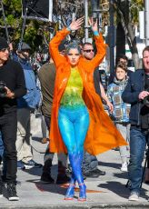 'Germany's Next Topmodel' on set filming, Los Angeles, USA - 19 Feb 2019