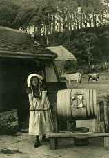 Dairymaid and butter churn, Isle of Wight