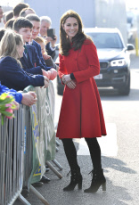 The Duke and Duchess of Cambridge visit Windsor Park in Belfast