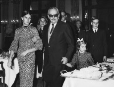 Prince Rainier with daughters and son