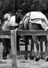 Princess Anne with her pony