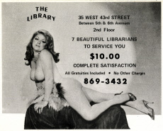 Advertisement for New York Massage Parlour - The Library