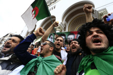 Algeria protest against President Abdelaziz Bouteflika's fifth term.