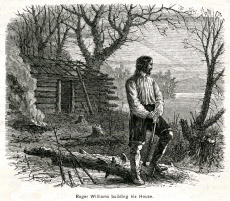 Roger Williams Building his Own Home