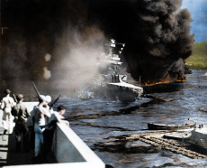 Pearl Harbour Colourised