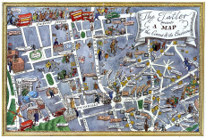 The Tatler presents map of Piccadilly Circus & its environs