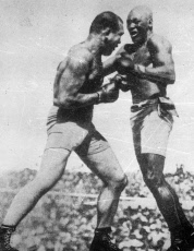 Beau Jack, American boxer, in a boxing match